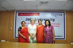 Dr. Soumya Manjunath Chavan extreme left, Dr. Jo Gill, centre, Dr. Choodamani Nandagopal,and Vivienne Fenando